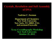 Crystals, resolution and self-assembly - Department of Chemistry ...
