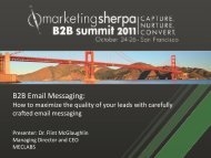 B2B Email Messaging: - meclabs