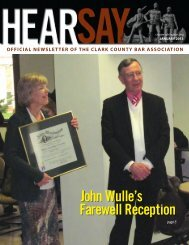 Jan '13 - inside pages - Clark County Bar Association