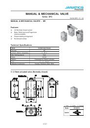 Manual & Mechanical Valve - Janatics