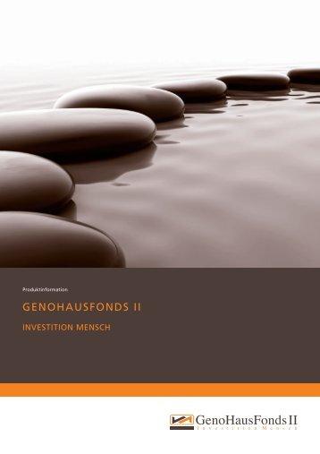 GENOHAUSFONDS II - Sachwert Zentrum
