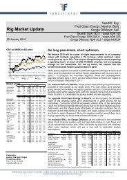 Rig market report - Fondsfinans
