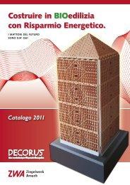 ZWA / Decorus Catalogo  2011 - Ziegelwerk Arnach GmbH & Co. KG