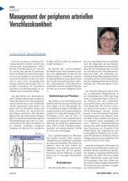 Management der peripheren arteriellen Verschlusskrankheit