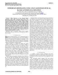 Subsurface bioimaging using angular domain optical... - Professor ...