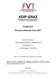 Endbericht Emissionskataster Graz 2001