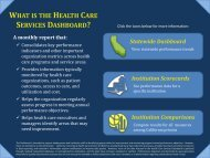 what is the health care services dashboard? - California ...