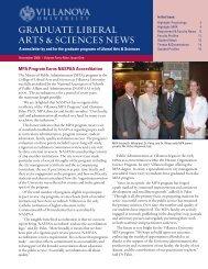 graduate liberal arts & sciences news - Villanova University