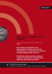 factsheet - Europa decentraal