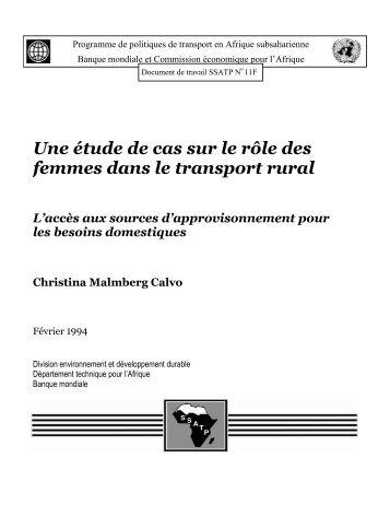 Une étude de cas sur le rôle des femmes dans le ... - World Bank