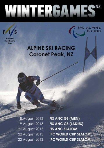 IPC WORLD CUP SLALOM ALPINE SKI RACING Coronet Peak, NZ