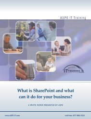 What is SharePoint and what can it do for your business? - ASPE