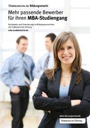 Das MBA Portal - sz-media.de - Süddeutsche Zeitung