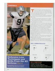 Defensive Line Techniques and Drills From the Defense Part ii
