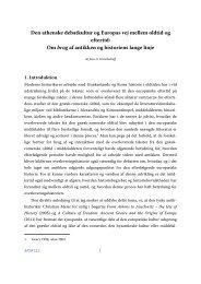 Den athenske debatkultur og Europas vej mellem oldtid og ... - Aigis