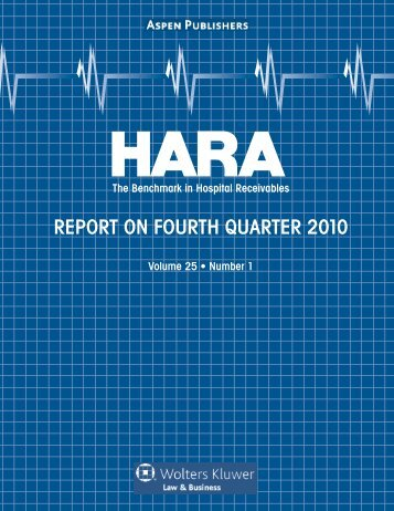 REPORT ON FOURTH QUARTER 2010 - Aspen Publishers