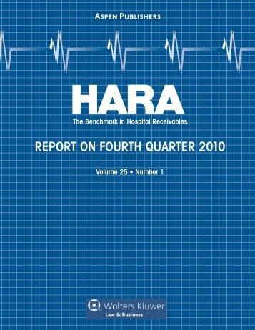 REPORT ON FOURTH QUARTER 2010 - Aspen Publishers