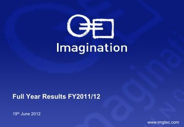 Full Year Results FY2011/12 - Imagination Technologies