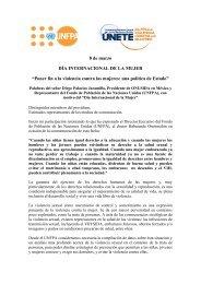 Palabras del señor Diego Palacios Jaramillo, Presidente de ... - CINU