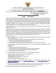 Rencana Bimbingan Teknis Pengadaan Barang/Jasa ... - LKPP