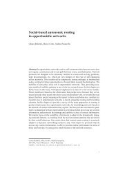 Social-based autonomic routing in opportunistic networks - Cnr