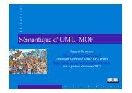 UML 2.0 Sémantique Henocque Esil Info 2007 - Laurent Henocque