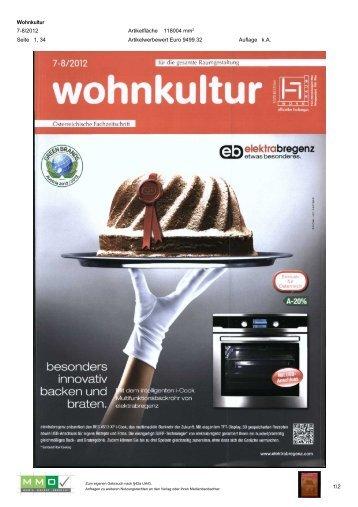 Wohnkultur – 07 / 08 2012 - Green Brands
