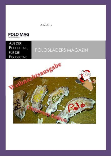 Ausgabe 4 - Dezember 2012 - Polobladers
