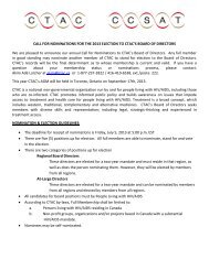 Call for CTAC Board Nominations