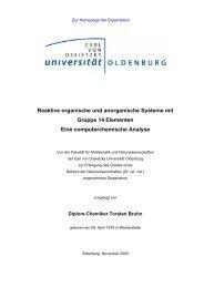 Reaktive organische und anorganische Systeme mit Gruppe 14 ...