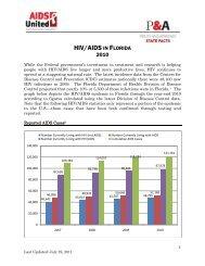 hiv/aids in florida 2010 - AIDS United