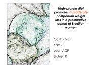 High-protein diet promotes a moderate postpartum weight ... - Epi2008
