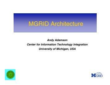 MGRID Architecture - Citi - University of Michigan