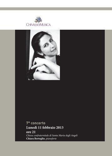 7° concerto Lunedì 11 febbraio 2013 ore 21 - Chivasso in Musica