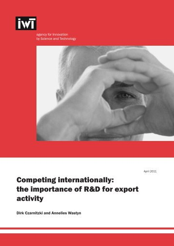 the importance of R&D for export activity - IWT