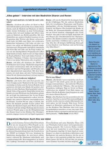 """Auszug """"ZWST informiert"""" 3-2011"""