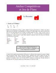 Atelier Compétitives et Jeu de Flanc - Claire Bridge