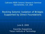 Japanese Practice on Seismic Isolation by Rocking - PEER