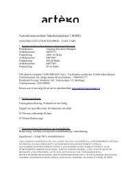 Varuinformationsblad/ Säkerhetsdatablad ( MSDS) - Moduline