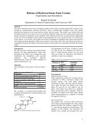 Release of Hydrocortisone from Creams
