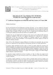 Allocution de M. Cruz Melchor EYA NCHAMA, à la - CRAN