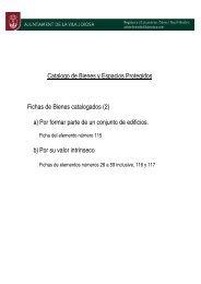 Catalogo de Bienes y Espacios Protegidos Fichas de ... - Villajoyosa