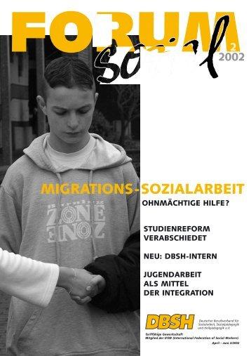 S chwerpunkt - DBSH Deutscher Berufsverband für Soziale Arbeit e.V.