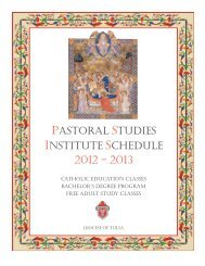 The Pastoral Studies Institute's 2012-2013 Class ... - Diocese of Tulsa