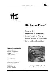 Workshop Innere Form© - Institut Innere Form