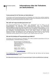 Informationen über die Teilnahme am Seefunkdienst