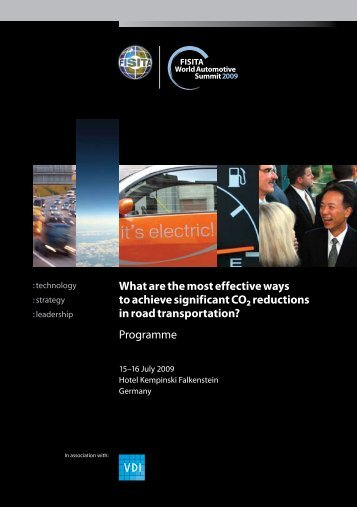 Download the 2009 Programme - FISITA World Automotive Summit