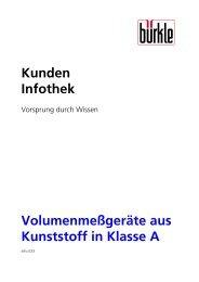 Volumenmeßgeräte aus Kunststoff in Klasse A - Bürkle GmbH