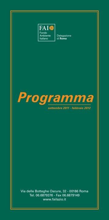 Programma - Centro Studi Soratte