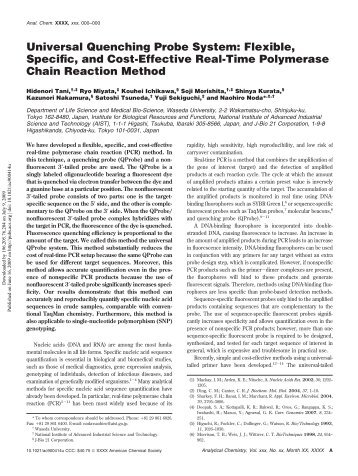 Flexible, Specific, and Cost-Effective Real-Time Polymerase Chain ...